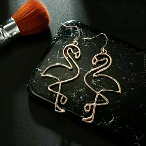Flamingo Dangle Earrings